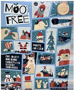 Moo free vegaaninen joulukalenteri
